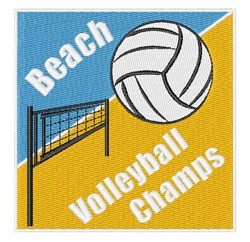 Beach Volleyball embroidery design