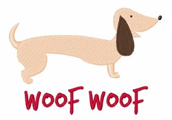 Woof Woof embroidery design
