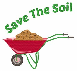Save The Soil embroidery design