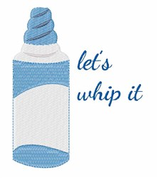 Whip It embroidery design