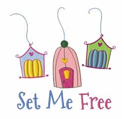Set Me Free embroidery design