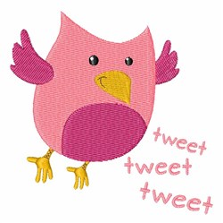Tweet Bird embroidery design