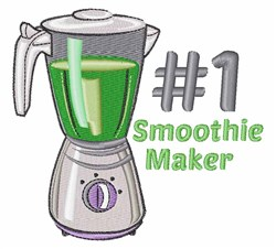 Smoothie Maker embroidery design