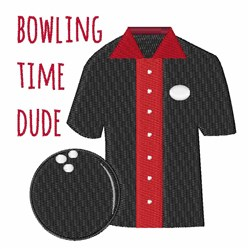 Bowling Time embroidery design