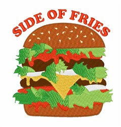 Side Of Fries embroidery design