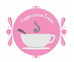 Cappuccino Lover embroidery design
