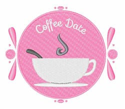Coffee Date embroidery design
