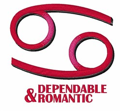 Dependable & Romantic embroidery design