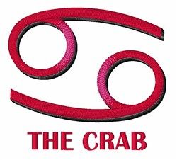 The Crab embroidery design