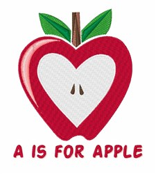 A For Apple embroidery design