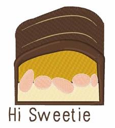 Hi Sweetie embroidery design