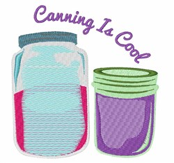 Canning Is Cool embroidery design