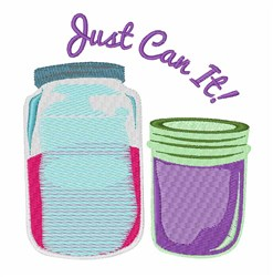 Just Can It embroidery design