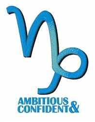 Ambitioius & Confident embroidery design