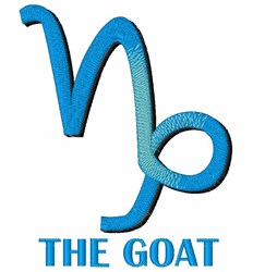 The Goat embroidery design