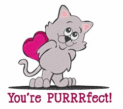 Youre Purrrfect embroidery design