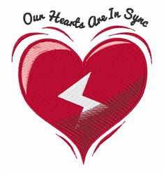 Hearts In Sync embroidery design