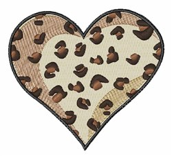 Leopard Heart embroidery design