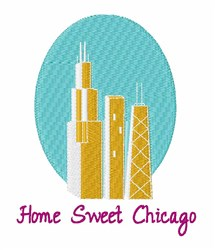 Sweet Chicago embroidery design