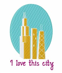 Love This City embroidery design