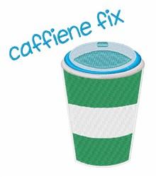 Caffiene Fix embroidery design