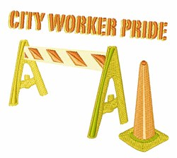 City Worker embroidery design