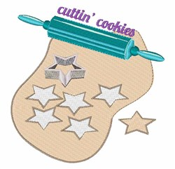 Cuttin Cookies embroidery design