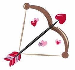 Valentine Bow embroidery design