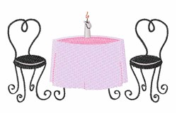 Dinner Table embroidery design