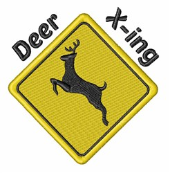 Deer X-ing embroidery design
