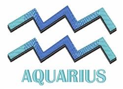 Aquarius embroidery design