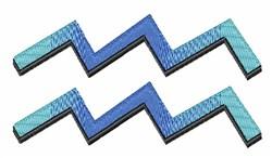 Aquarius Sign embroidery design
