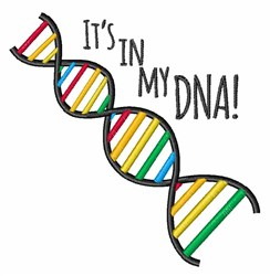 My DNA embroidery design