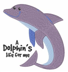 Dolphins Life embroidery design