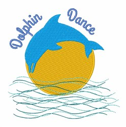 Dolphin Dance embroidery design
