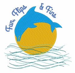 Flips & Fins embroidery design