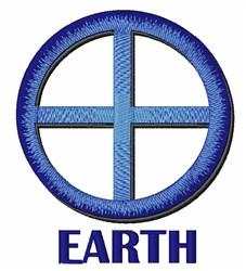 Earth embroidery design