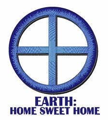 Earth Home embroidery design