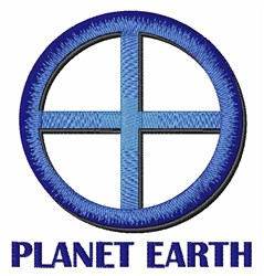 Planet Earth embroidery design