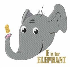 E For Elephant embroidery design