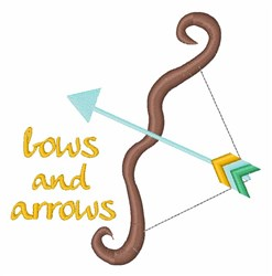 Bows & Arrows embroidery design