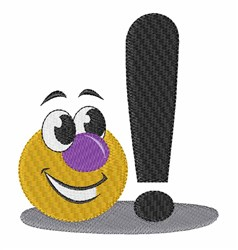Exclamation embroidery design