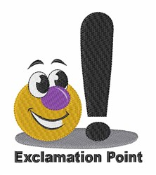 Exclamation Point embroidery design
