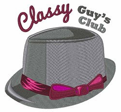 Classy Hat embroidery design
