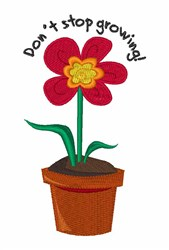 Growing Flower embroidery design