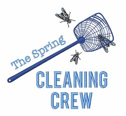 Cleaning Crew embroidery design