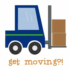 Get Moving embroidery design
