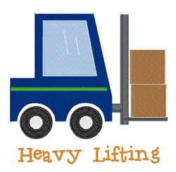 Heavy Lifting embroidery design