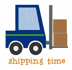 Shipping Time embroidery design