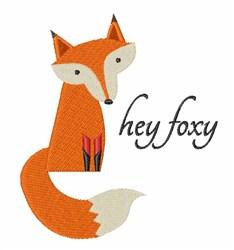 Hey Foxy embroidery design